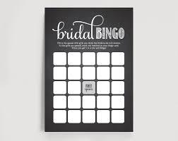 bridal shower bingo printable template