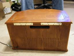 home theater pc case wooden radio htpc