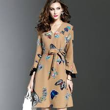 plus nao rakuten global market flare dress knee length dress mi