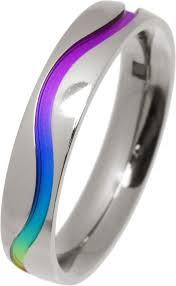 titanium wedding ring rainbow titanium ring adorn jewellers of chesterfield