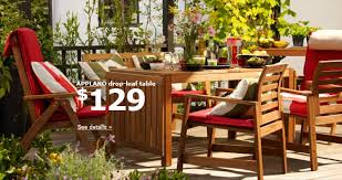 Drop Leaf Patio Table Ikea Applaro Drop Leaf Outdoor Table Chairs Jones In For