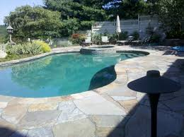 Sealing A Flagstone Patio by Stone Masonry Repair Needed On This Pool Deck And Patio Masonry