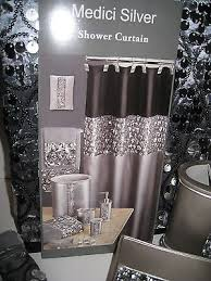Black And Purple Bathroom Sets Hollywood Glamour Sequin Silver Black Shower Curtain Bath Towels