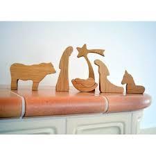 wooden nativity set modern wooden nativity set oak wood 6 handmade pieces