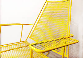 patio rocking chairs metal sold mid century metal mesh patio rocking chair rehab vintage