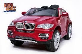 cars bmw red kool karz bmw x6 electric ride on toy car u2013 kool karz playground