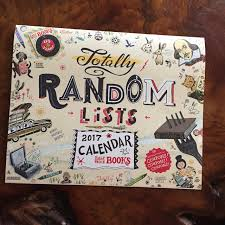 the 2017 half price books calendar of totally random lists u2026and