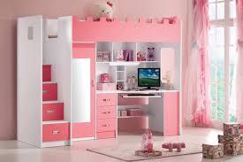 chambre combiné fille chambre fille avec lit combiné 90x200 armoire blanc et lits
