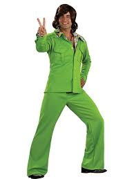 Halloween 70s Costumes Lime Leisure Suit Mens Costume Costumes