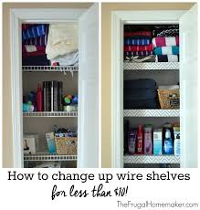 how to change up wire shelves for less than 10