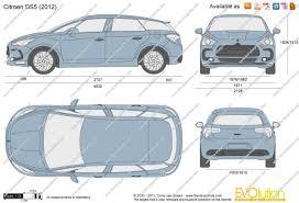 the blueprints com vector drawing citroen ds5