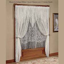 Window Treatment Pictures - queens lace window treatment