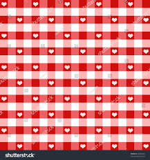 fashioned photo albums hearts gingham seamless pattern fashioned stock illustration