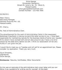 sle cover letter for clerk position 28 images record clerk