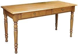 bureau louis philippe merisier table bureau 2 tiroirs style louis philippe fabrication en bois