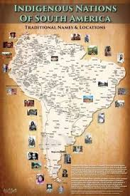 4 american cultures map south america indigenous nations of south america map