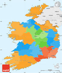 Map With Labels Political Simple Map Of Ireland Single Color Outside Borders And