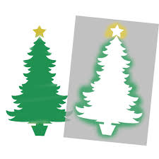 christmas tree stencil christmas lights decoration