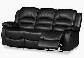 Black Leather Sofa Recliner Marvellous Black Leather Reclining Sofa Venice Electric 3 Seater