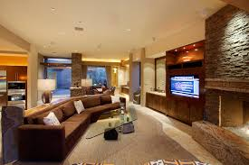 custom sectional sofa design custom sectional sofa living room contemporary with bar area basalt