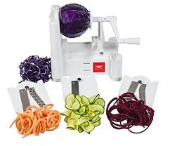 paderno cuisine spiral vegetable slicer amazon com paderno cuisine 3 blade vegetable slicer