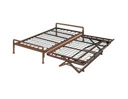 bedroom wood and wrought trundle bed frame for inspiring bed
