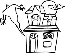 haunted house free halloween coloring pages free hallowen
