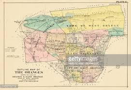 map of essex county nj jersey 1906 oranges outline map plate essex county stock