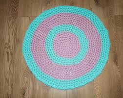 Pink Rug Nursery Pink And Mint Rug Etsy
