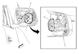 repair instructions outside rearview mirror motor replacement