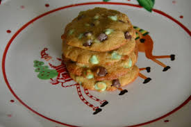 mint chocolate chip christmas cookies sally cooks