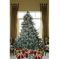 8 ft prelit premium spruce hinged artificial