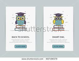 mobile app onboarding screen templates education stock vector