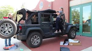 jeep soft top open 2016 jeep wrangler unlimited soft top install youtube