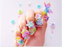 acrylic 3d butterfly nails nailbees