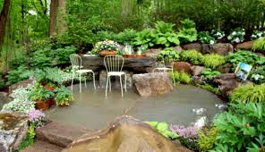 Backyard Gravel Ideas Landscaping Great Designs With Rocks And Gravelsand Green Shrubs L