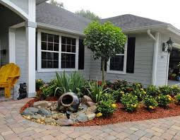 Modern Front Yard Desert Landscaping With Palm Tree And 17 Small Front Yard Landscaping Ideas To Define Your Curb Appeal