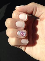 nails with an accent french tip accent manicure claws