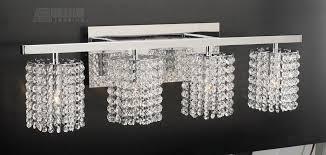 Vanity Lights Plc Lighting 72196 Rigga Modern Contemporary Crystal Bathroom