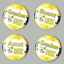 baby shower bee theme baby shower to bee theme buttons set of 4