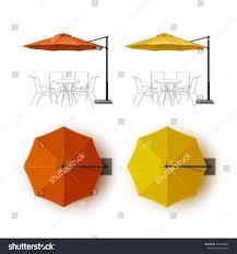 Orange Patio Umbrella by Vector Set Orange Yellow Blank Patio Stock Vector 453638986