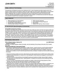 Resume Sample For Volunteer Work by Click Here To Download This Animal Services Professional Resume