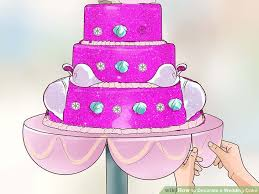 a wedding cake how to decorate a wedding cake with pictures wikihow