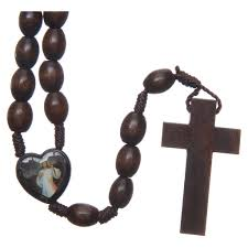 wooden rosary medjugorje wooden rosary with grains online sales on
