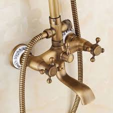 rainfall shower faucet set with slide bar tub faucet mixer handle