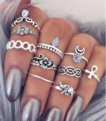 fashion hand rings images 2016 new fashion antique silver animal elephant crystal ring set jpg