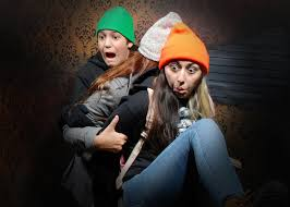 Halloween House Lights Video by Niagara Falls Canada Attraction Nightmares Fear Factory