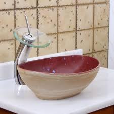 elite 1563 oval ruby glaze porcelain ceramic bathroom vessel sink