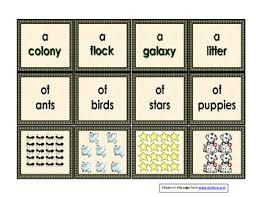 collective nouns 2nd grade language common core standards tpt