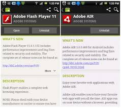 air player for android adobe flash player 11 and air 3 now available for android